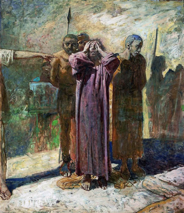 Calvary (unfinished), 1893, Ge Nikolai, The Tretyakov Gallery, Moscow paintings to artist of ArtRussia
