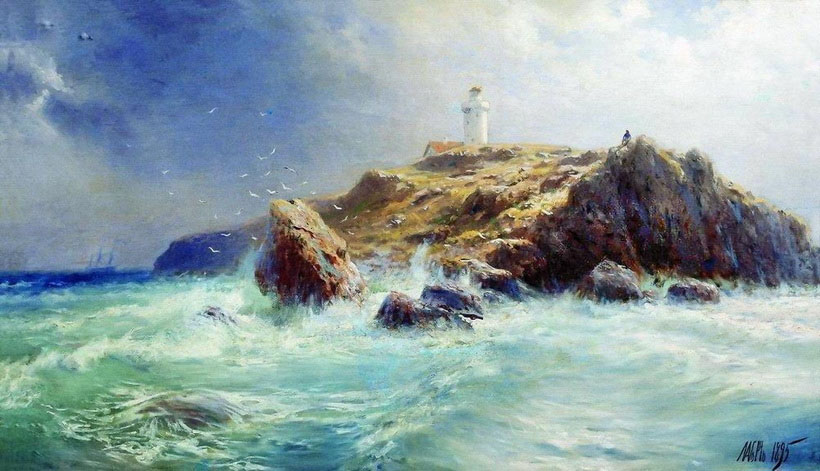 Lighthouse, 1895, Lagorio Lev, Private collection paintings to artist of ArtRussia