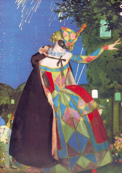 Tongue of Colombina, 1915, Somov Konstantin, The Russian Museum paintings to artist of ArtRussia
