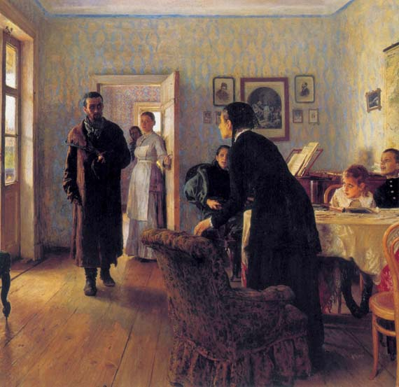 They Did Not Wait, 1888, Repin Ilya, The Tretyakov Gallery, Moscow paintings to artist of ArtRussia