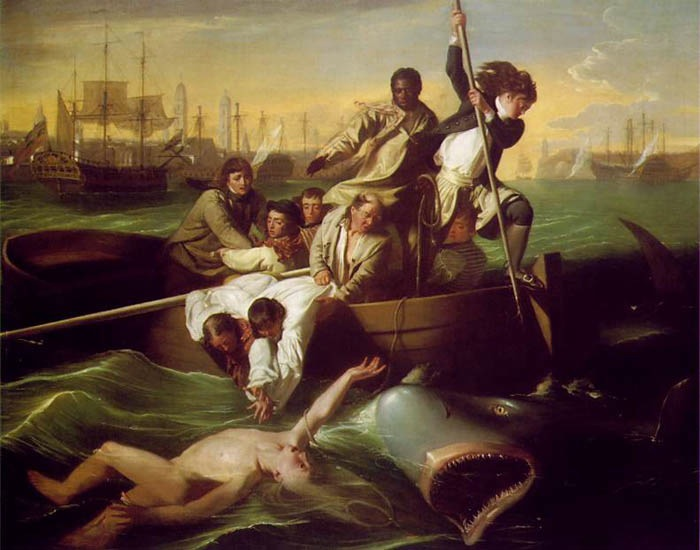 Brooke Watson and the Shark, 1778, Copley John Singleton, Museum of Fine Arts, Boston paintings to artist of ArtRussia