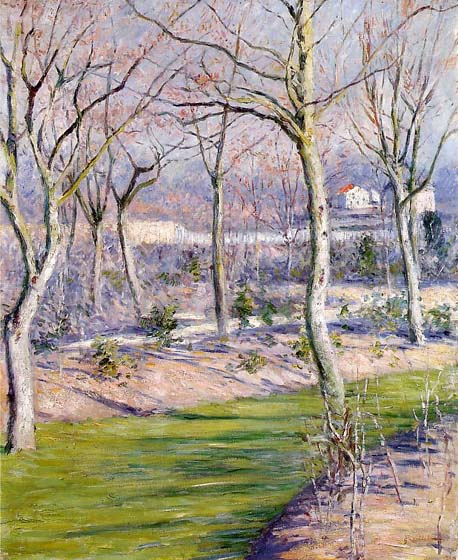 The Garden at Petit Gennevilliers in Winter, 1894, Caillebotte Gustave, Private collection paintings to artist of ArtRussia