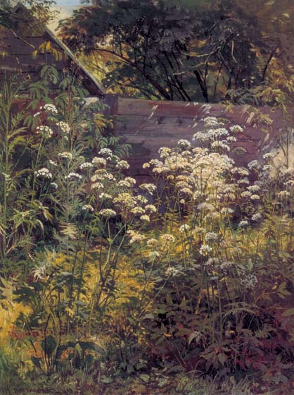 Nook of the overgrown garden. A Snyt-grass, 1884, Shishkin Ivan, The Tretyakov Gallery paintings to artist of ArtRussia