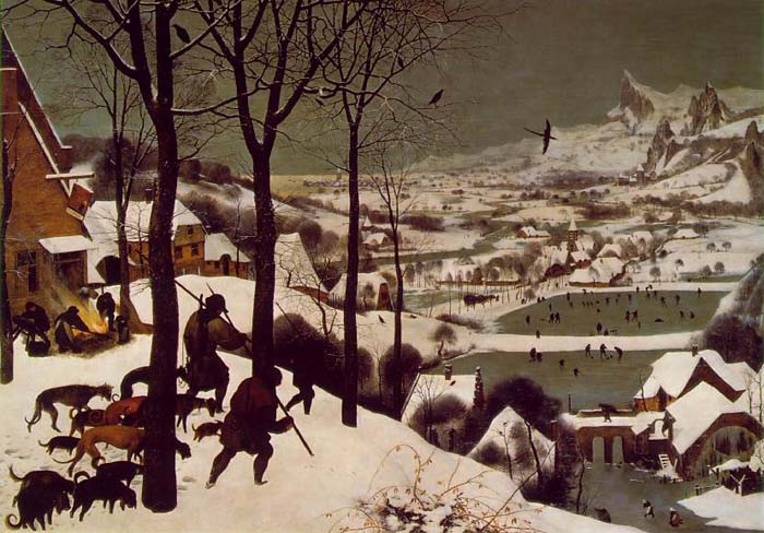Hunters in the Snow, 1565, Brueghel Pieter, Art and History Museum, Vienna paintings to artist of ArtRussia