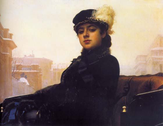 Unknown Woman, 1883, Kramskoy Ivan, The Tretyakov Gallery, Moscow paintings to artist of ArtRussia