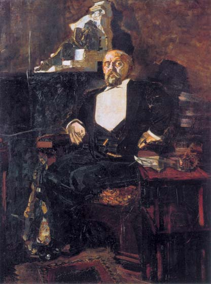 Portrait of S.I. Mamontov, 1897, Vrubel Mikhail, The Tretyakov Gallery, Moscow paintings to artist of ArtRussia