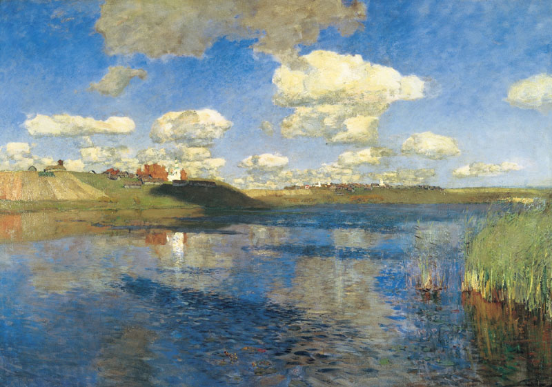 Lake. Russia, 1900, Levitan Isaac, The Tretyakov Gallery, Moscow paintings to artist of ArtRussia