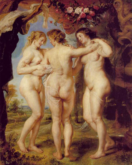 Three Graces, 1639, Rubens Peter Paul, Prado Museum, Madrid paintings to artist of ArtRussia