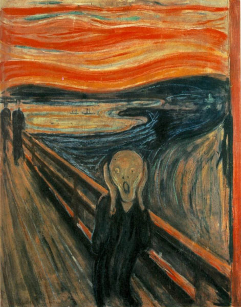 The Scream, 1893, Munch Edvard, National Gallery, Oslo, Norway paintings to artist of ArtRussia