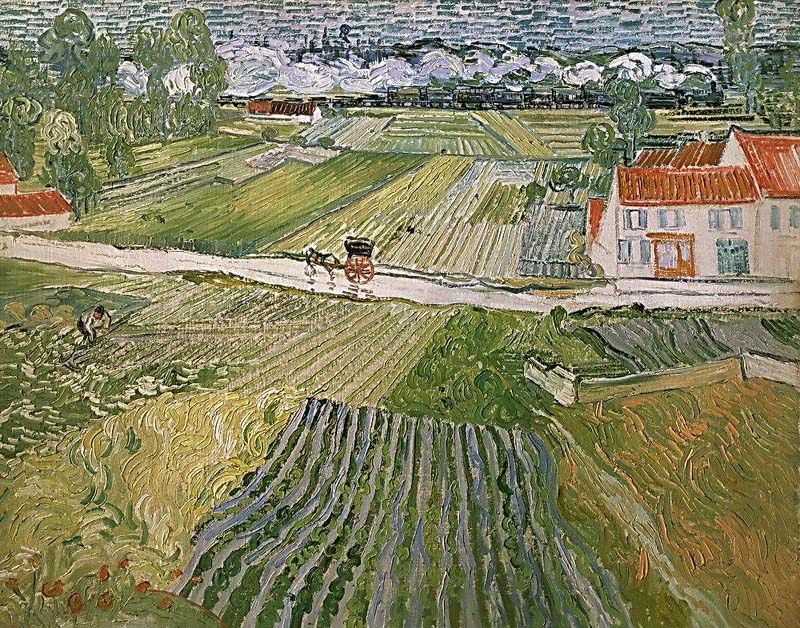 A road in Auvers after the rain, 1890, Van Gogh Vincent, Pushkin Museum, Moscow paintings to artist of ArtRussia