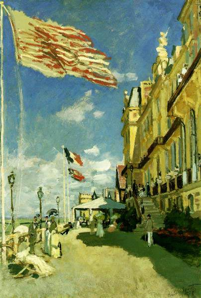 Hotel des Roches Noires, Trouville, 1870, Monet Claude, Pushkin Museum, Moscow paintings to artist of ArtRussia