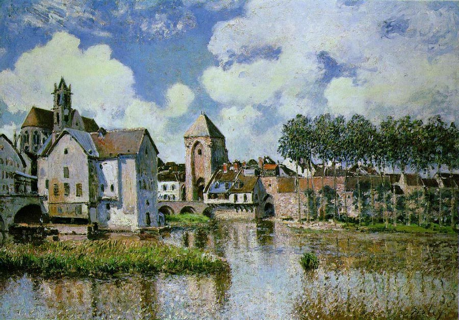 Moret-sur-Loing, 1891, Sisley Alfred, Galerie H. Odermatt-Ph. Cazeau, Paris paintings to artist of ArtRussia