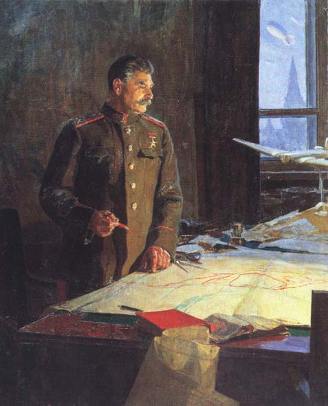 Generalissimo of the Soviet Union, I.V. Stalin, 1948, Reshetnikov Fyodor, The Tretyakov Gallery, Moscow paintings to artist of ArtRussia