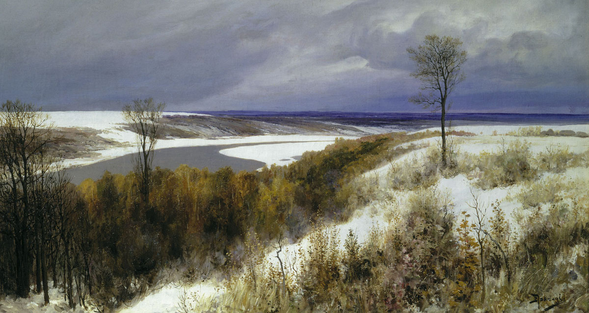 Early Snow, 1891, Polenov Vasily, The Tretyakov Gallery, Moscow paintings to artist of ArtRussia