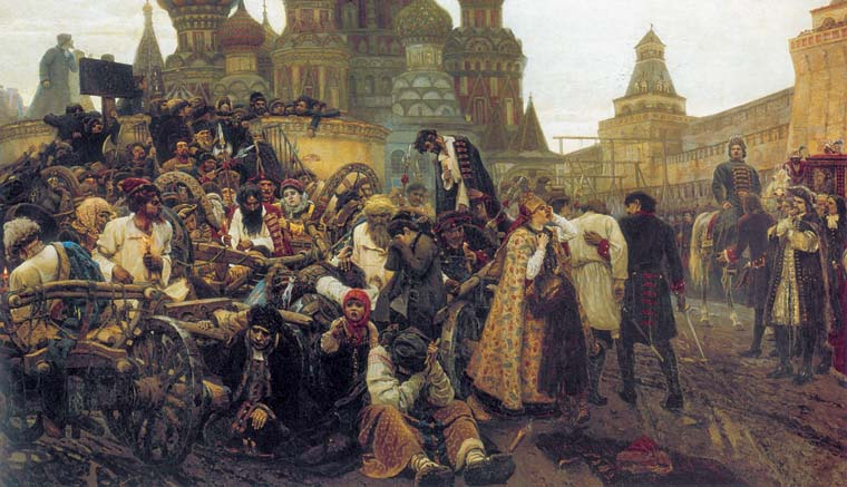Morning of the Streltsy Execution, 1881, Surikov Vasily, The Tretyakov Gallery paintings to artist of ArtRussia