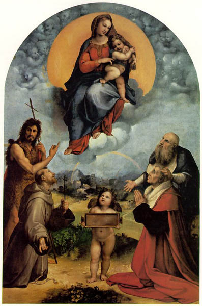 Madonna di Foligno, 1512, Raphael Santi, Vatican Museum, Rome paintings to artist of ArtRussia