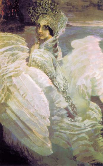 Swan Princess, 1900, Vrubel Mikhail, The Tretyakov Gallery, Moscow paintings to artist of ArtRussia