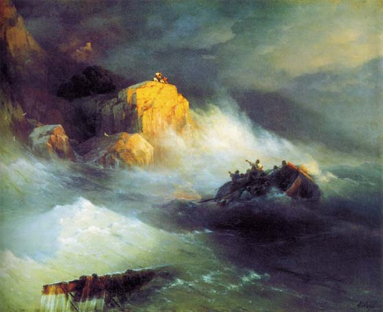 Shipwreck, 1876, Aivazovskiy Ivan, Feodosia art gallery paintings to artist of ArtRussia