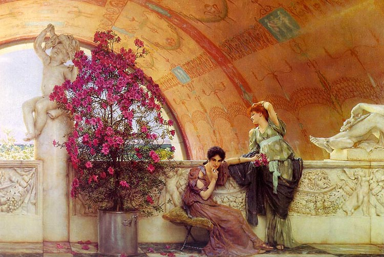 Unwitting rivals, 1893, Alma Tadema Lawrence, Museum and Art Gallery. Bristol paintings to artist of ArtRussia