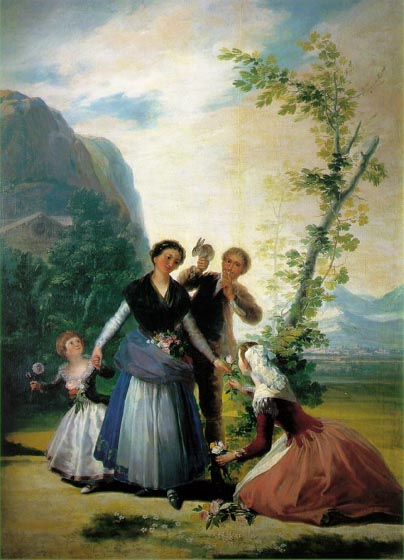 Spring (Flower girls), 1787, Goya Francisco, Prado Museum, Madrid paintings to artist of ArtRussia