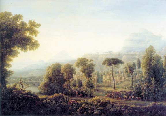 View in Sicily. Mountains, 1811, Matveyev Fyodor, The Tretyakov Gallery, Moscow paintings to artist of ArtRussia