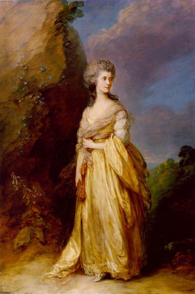 Mrs. Peter William Baker, 1781, Gainsborough Thomas, Frick Collection, New York paintings to artist of ArtRussia