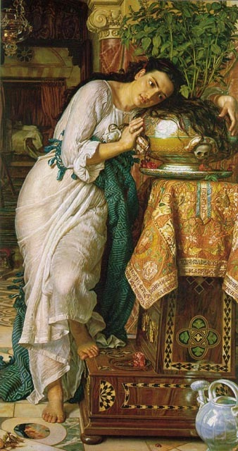 Isabella and the Pot of Basil, 1868, Hunt William Holman, Laing Art Gallery, Newcastle paintings to artist of ArtRussia