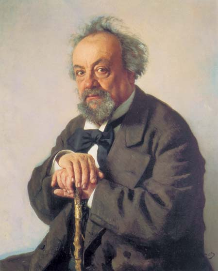 Portrait of writer Alexey Feofilaktovich Pisemskiy, 1880, Repin Ilya, The Tretyakov Gallery, Moscow paintings to artist of ArtRussia