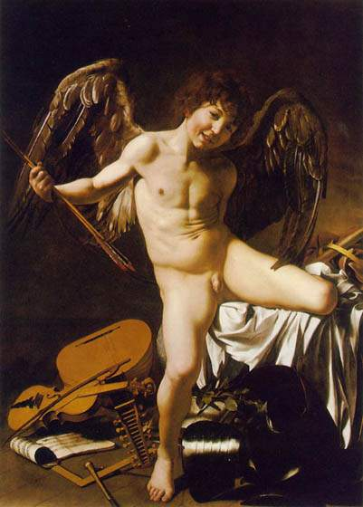 Amor Vincit Omnia, 1602, Caravaggio Michelangelo Merisi da, Gemäldegalerie, Berlin paintings to artist of ArtRussia