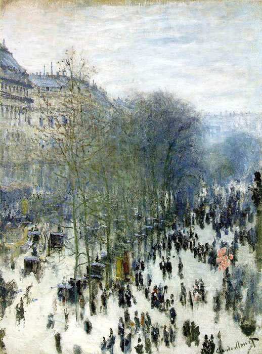 Boulevard des Capucines in Paris, 1873, Monet Claude, Museum of Art, Kansas City, United States paintings to artist of ArtRussia