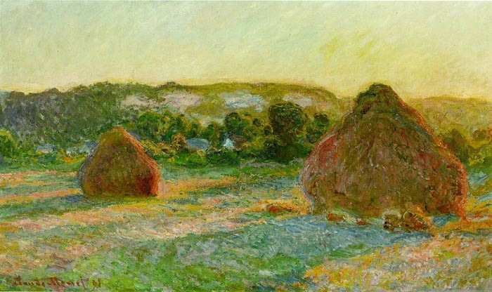 Haystacks. The end of the summer, 1891, Monet Claude, Art Institute of Chicago paintings to artist of ArtRussia