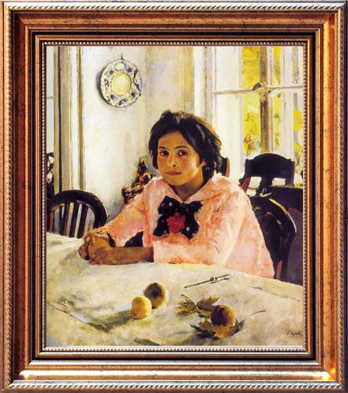 The Girl with Peaches. Portrait of Vera Mamontova, 1887, Serov Valentin, The Tretyakov Gallery, Moscow paintings to artist of ArtRussia