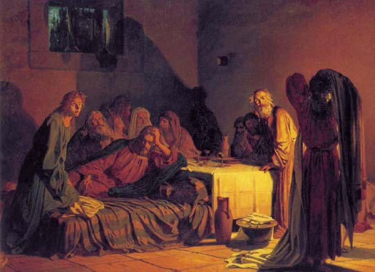 The Last Supper, 1863, Ge Nikolai, The Russian Museum, St.Petersburg paintings to artist of ArtRussia