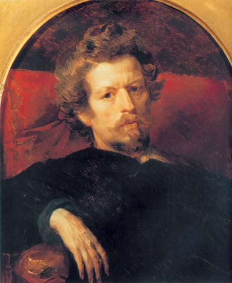 Self-Portrait, 1848, Bryullov Karl, The Tretyakov Gallery, Moscow paintings to artist of ArtRussia