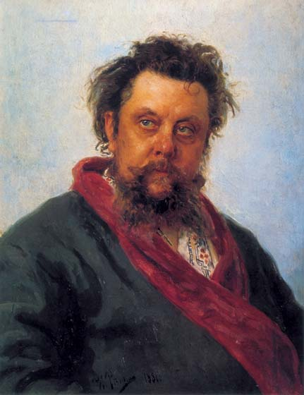 Portrait of the composer M.P. Mussorgsky, 1881, Repin Ilya, The Tretyakov Gallery, Moscow paintings to artist of ArtRussia