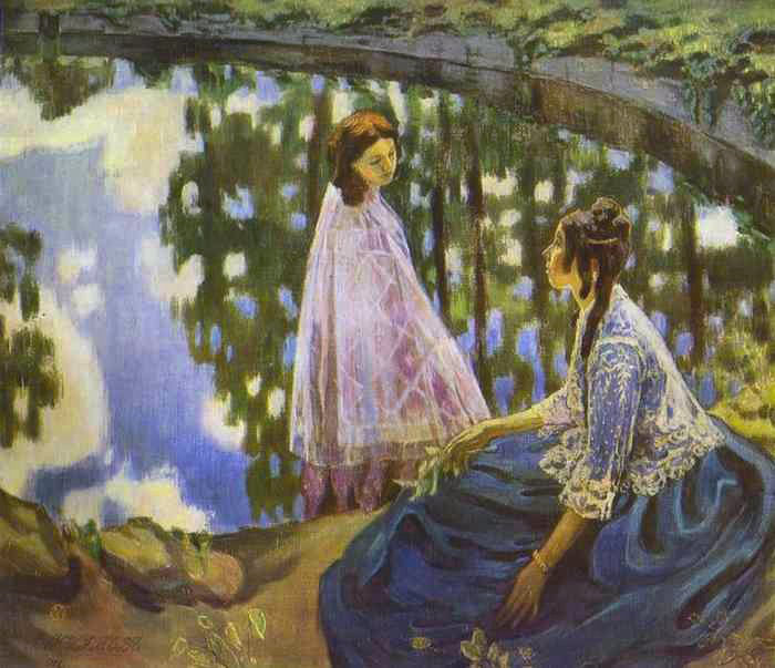 The Pond, 1902, Borisov-Musatov Victor, The Russian Museum, St.Petersburg paintings to artist of ArtRussia