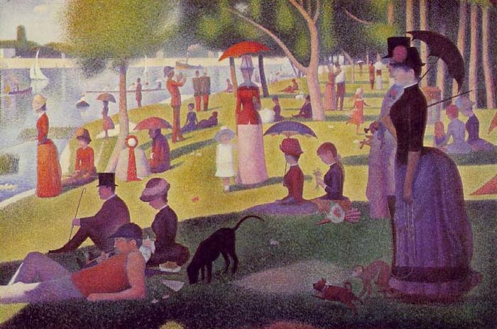 Sunday walk on the Island of La Grande Jatte, 1886, Seurat Georges, Art Institute of Chicago paintings to artist of ArtRussia