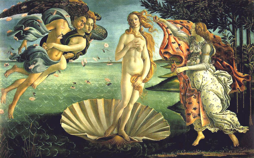 Birth of Venus, 1484, Botticelli Sandro, Uffizi Gallery, Florence paintings to artist of ArtRussia