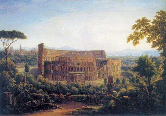 View in Rome. The Collosseo, 1816, Matveyev Fyodor, The Tretyakov Gallery, Moscow paintings to artist of ArtRussia
