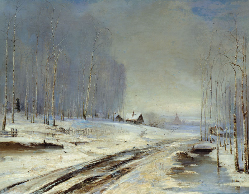 Season of bad roads, 1894, Savrasov Alexei, Volgograd Regional Museum of Fine Arts paintings to artist of ArtRussia