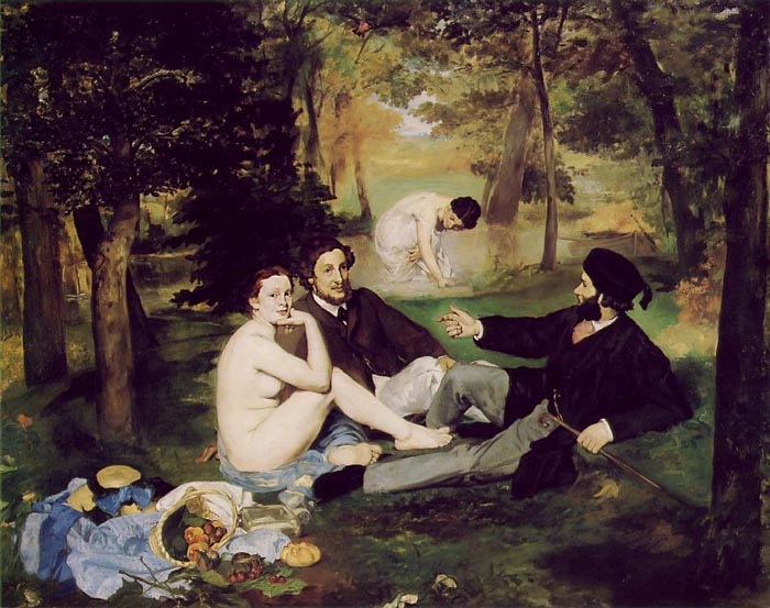 Dejeuner sur L'Herbe, 1863, Manet Edouard, Museum d'Orsay, Paris paintings to artist of ArtRussia