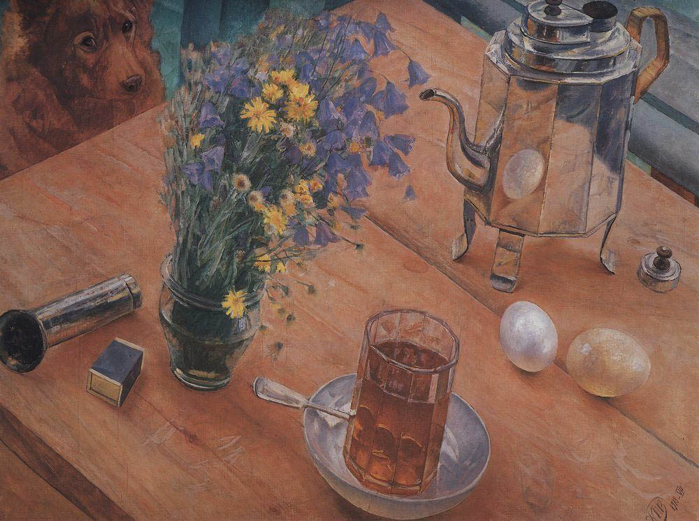 Morning still life, 1918, Petrov-Vodkin Kuzma, The State Russian Museum paintings to artist of ArtRussia