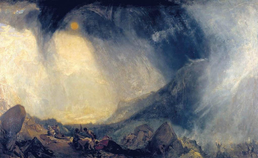 Snow Storm: Hannibal and His Army Crossing the Alps, 1812, Turner William, Tate Gallery, London paintings to artist of ArtRussia