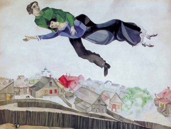 Above city, 1918, Chagall Marc, The Tretyakov Gallery paintings to artist of ArtRussia