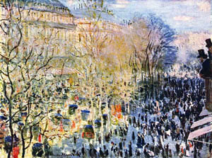 Boulevard des Capucines in Paris