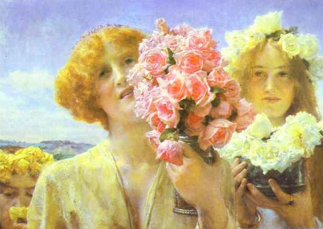 Summer Offering, 1911, Alma Tadema Lawrence, Private collection paintings to artist of ArtRussia