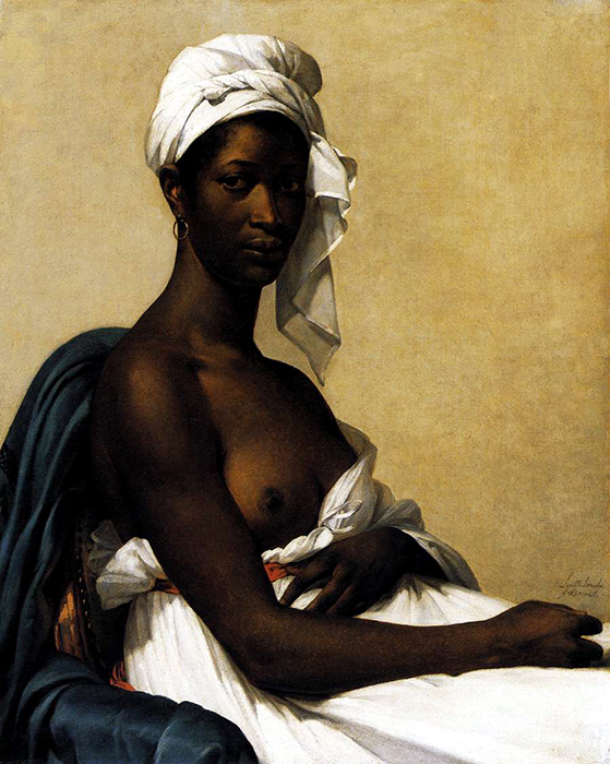 Portrait of black woman, 1800, Benoist Marie-Guillemine, Louvre, Paris paintings to artist of ArtRussia