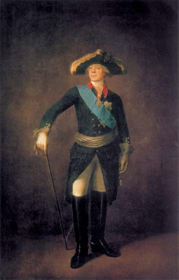 Portrait of Paul I, 1797, Shchukin Stepan, The Tretyakov Gallery paintings to artist of ArtRussia