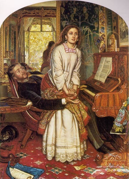 The awakening conscience, 1853, Hunt William Holman, Tate Gallery, London paintings to artist of ArtRussia