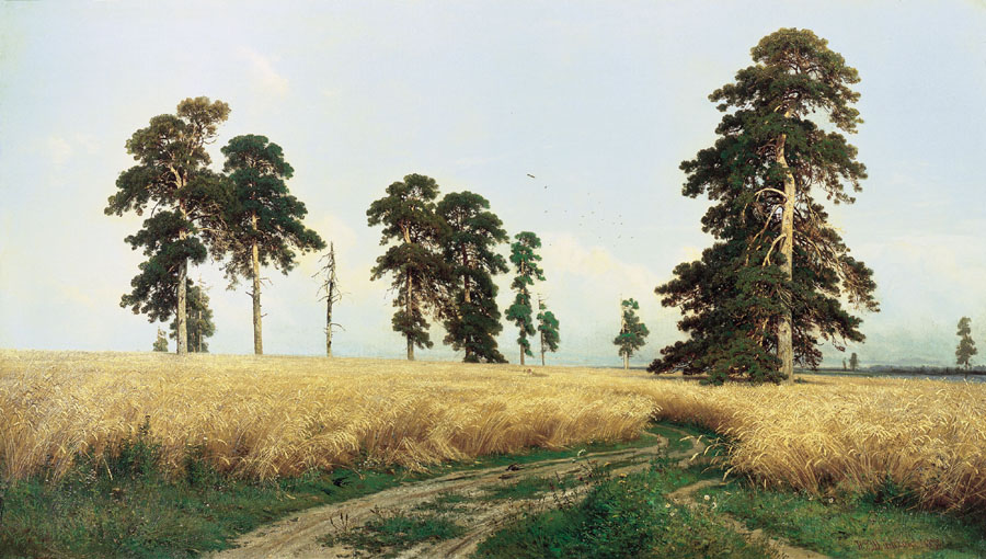 Rye, 1878, Shishkin Ivan, The Tretyakov Gallery paintings to artist of ArtRussia